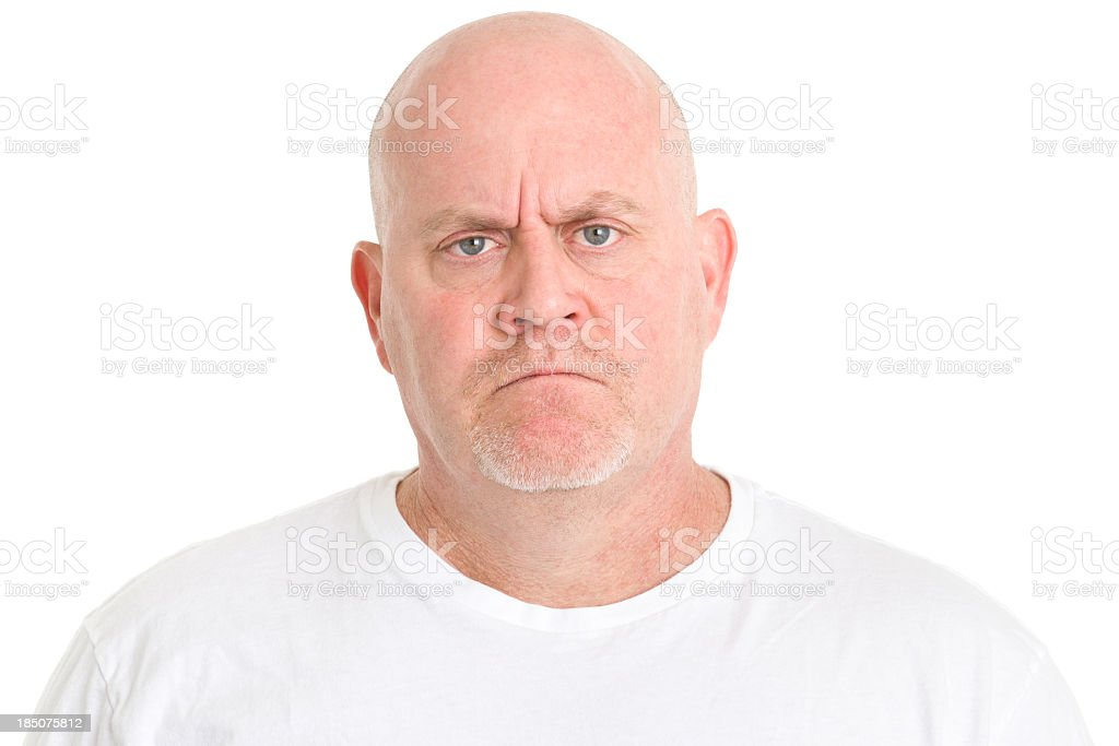 Irritated Frowning Man royalty-free stock photo