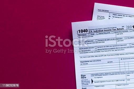 istock 1040 irs tax tables 2018 1138252676