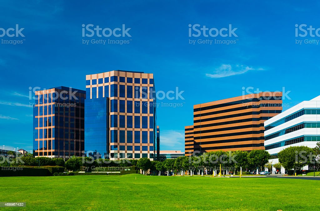 Irvine Business Complex highrise office buildings stock photo