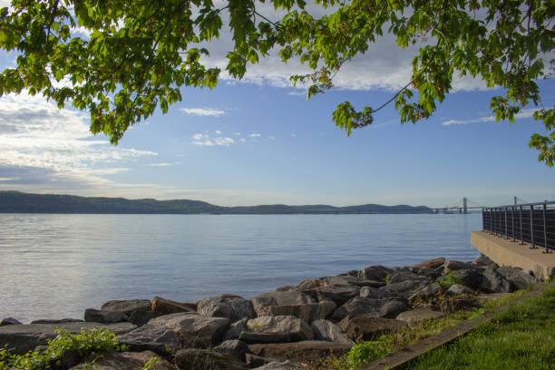 Irvington Waterfront stock photo
