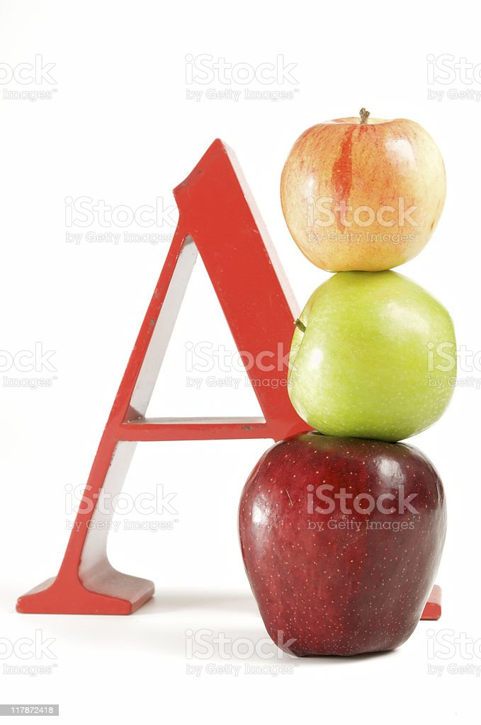 A is for Apple royalty-free stock photo