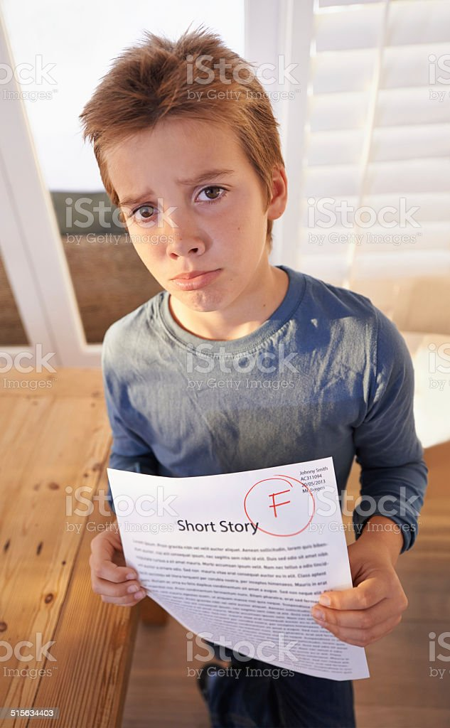 F is for failure stock photo