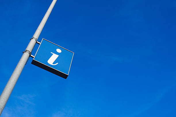 I is for information sign in blue Information Sign  information sign stock pictures, royalty-free photos & images