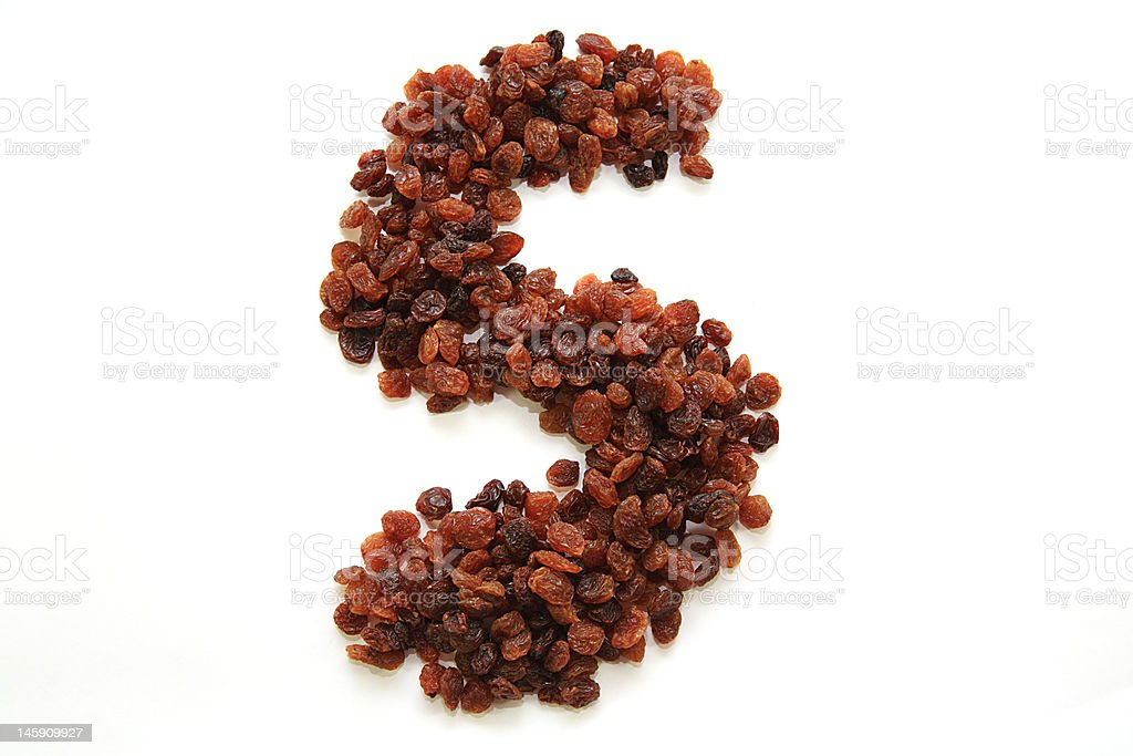 S is for sultanas royalty-free stock photo