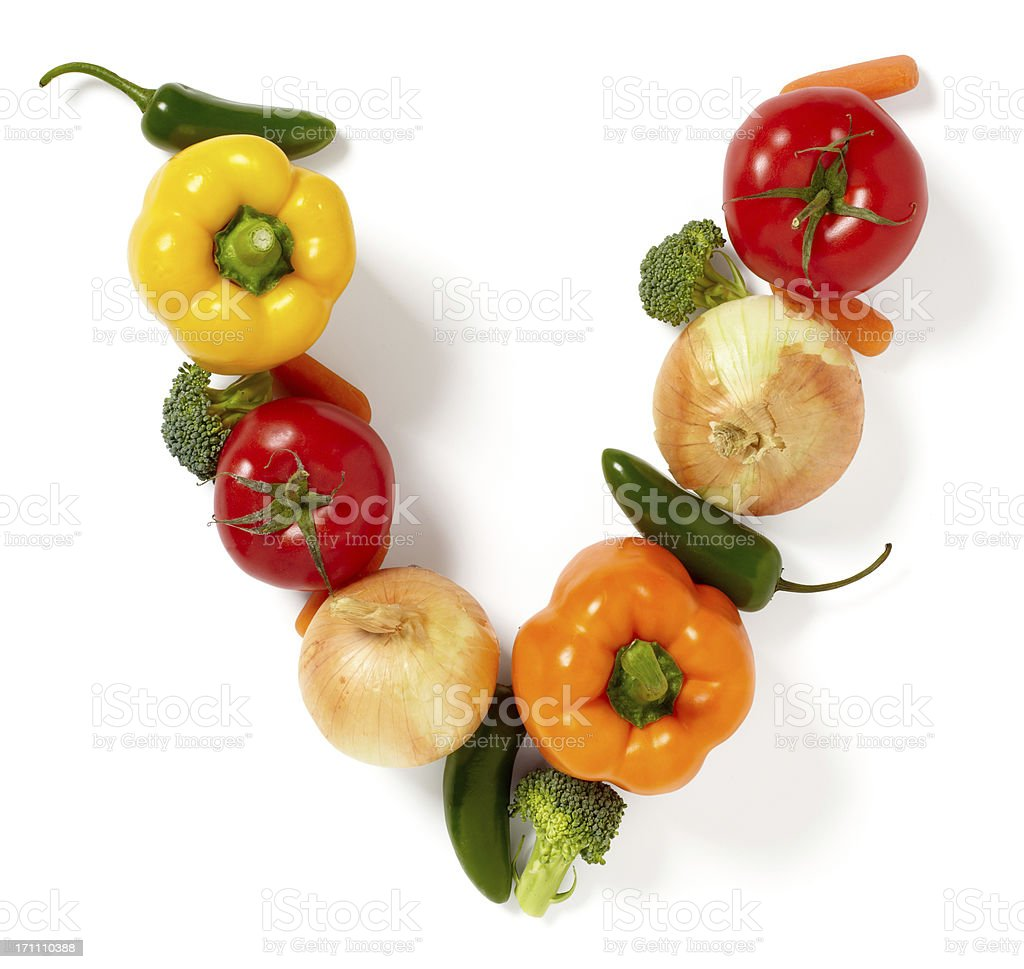 V is for Veggies royalty-free stock photo