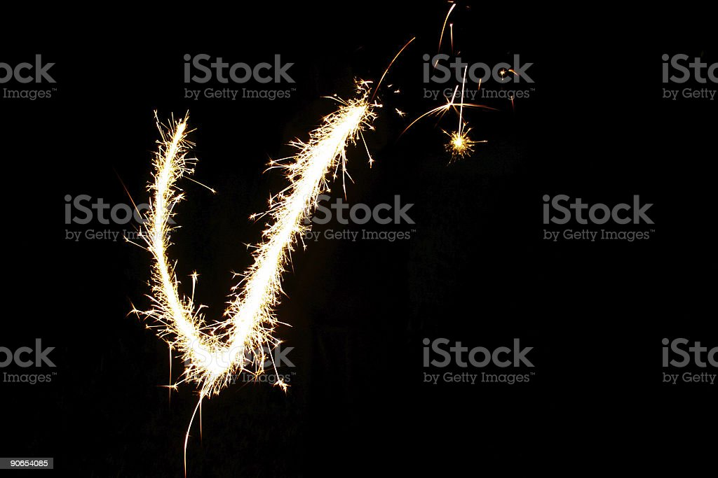V is for Victory royalty-free stock photo