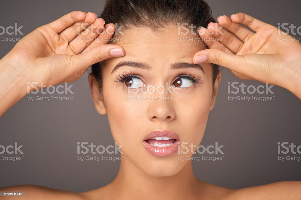 Is gravity starting to take it's toll? stock photo