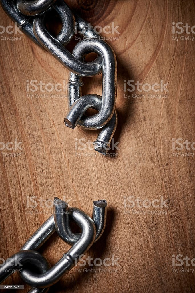 Is it broken or the beginning of something new? stock photo