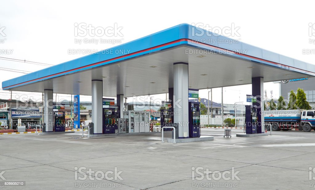 PTT is largest oil company in Thailand royalty-free stock photo