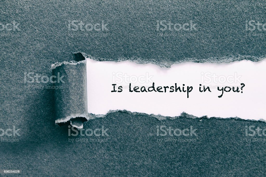 Is leadership in you stock photo