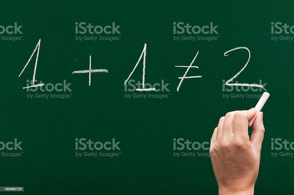 1+1 is not always 2 stock photo