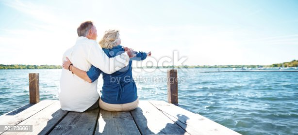 Rearview shot of an affectionate senior couple sitting on a pierhttp://195.154.178.81/DATA/i_collage/pu/shoots/784430.jpg