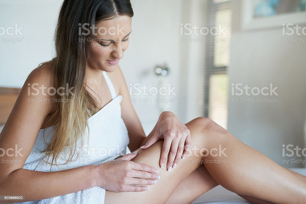 Is that cellulite I see? stock photo
