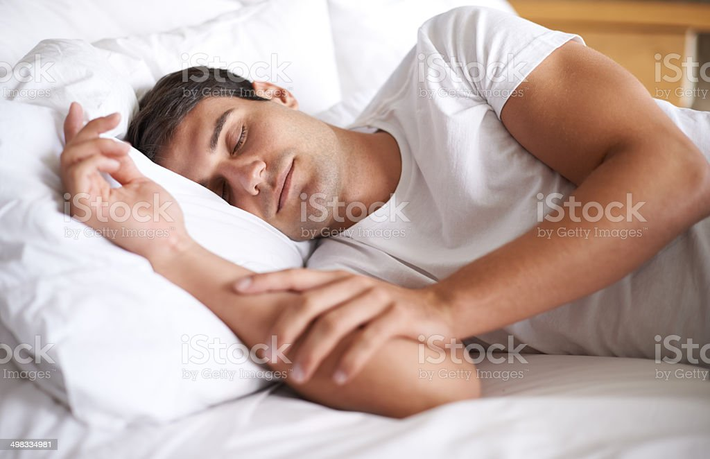 Is there anything better than a weekend lie in? stock photo