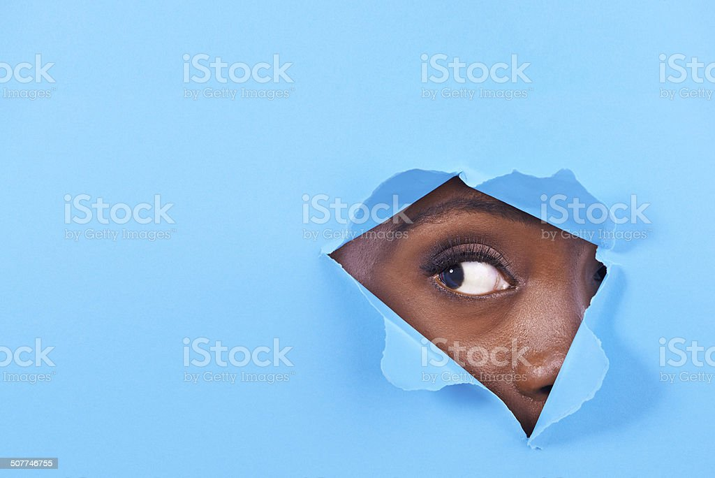 Is there something there? stock photo