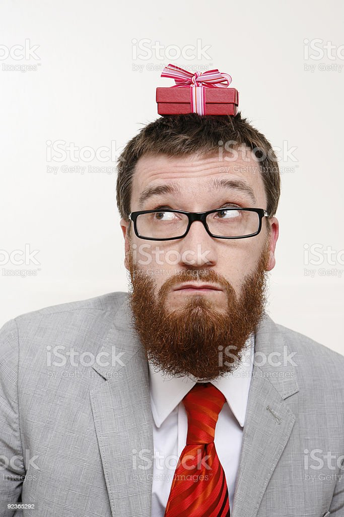 Is this the right gift royalty-free stock photo