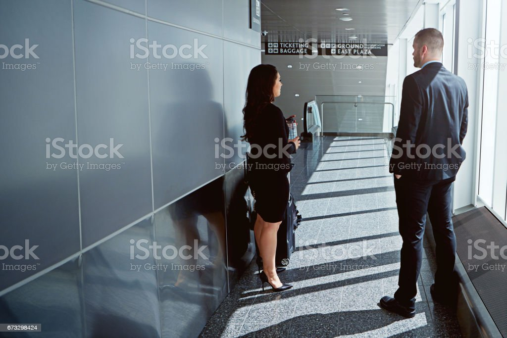 Is this the way to the business lounge? royalty-free stock photo