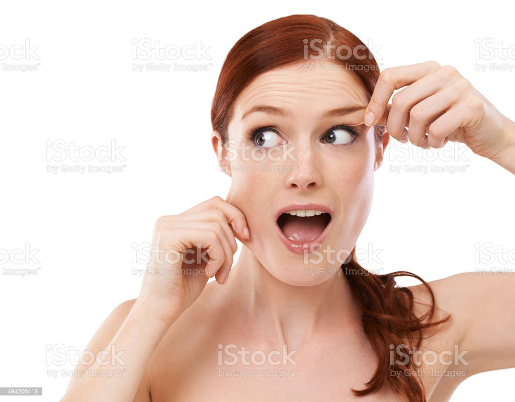 Is this what they meant by face lift? stock photo