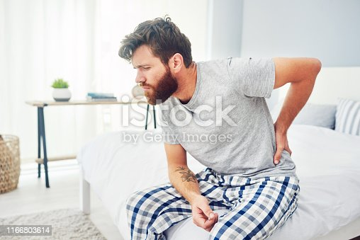 istock Is your bed giving your back the support it needs? 1166803614
