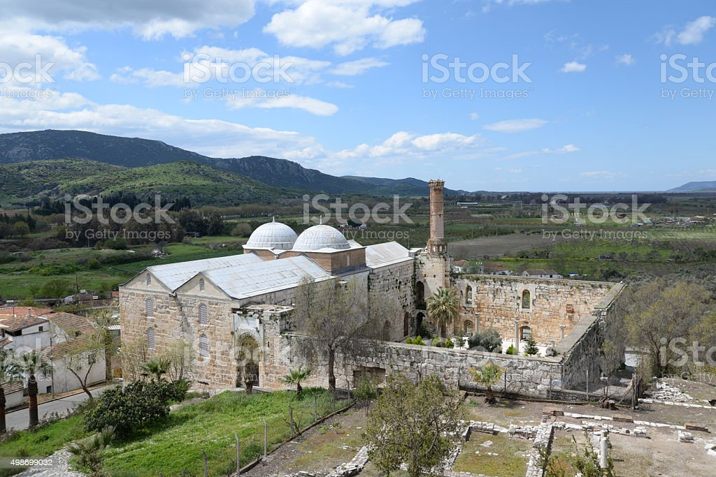 Isa Bey Mosque in Selcuk stock photo