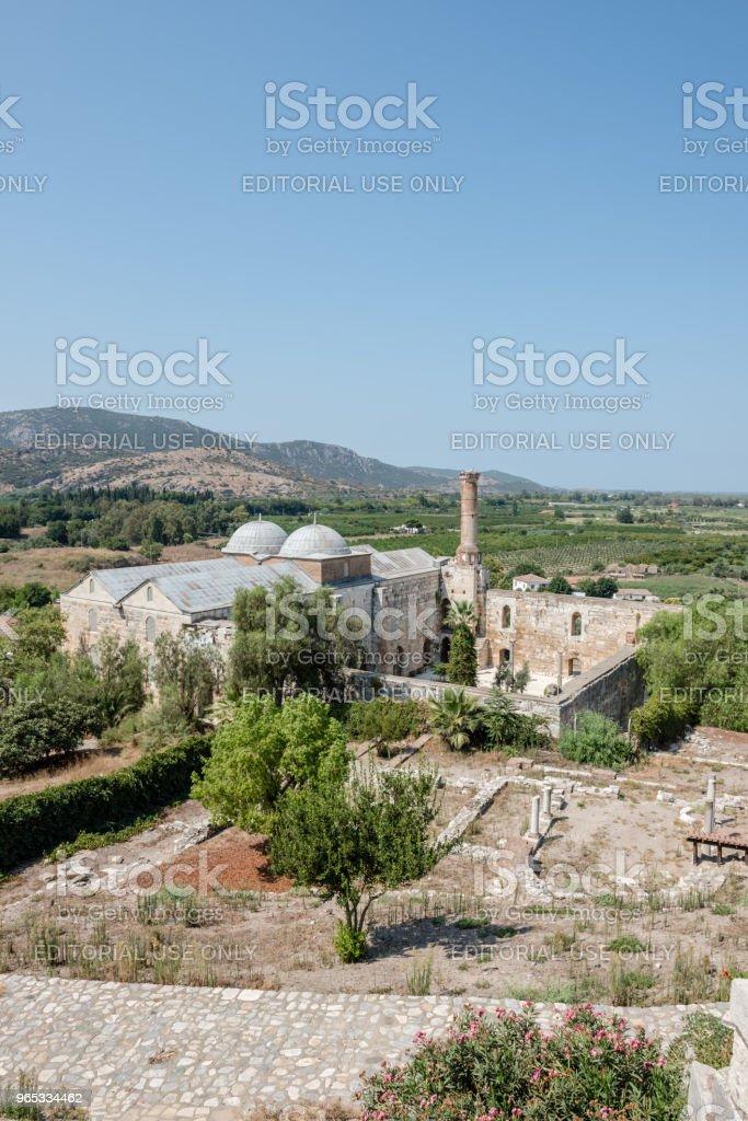 셀 축, 이즈미르, 터키에에서 Isa 지사 모스크. - 로열티 프리 0명 스톡 사진