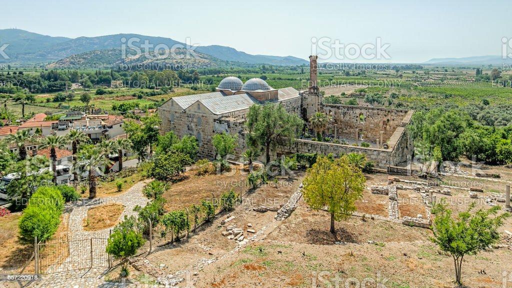 Isa Bey Mosque stock photo