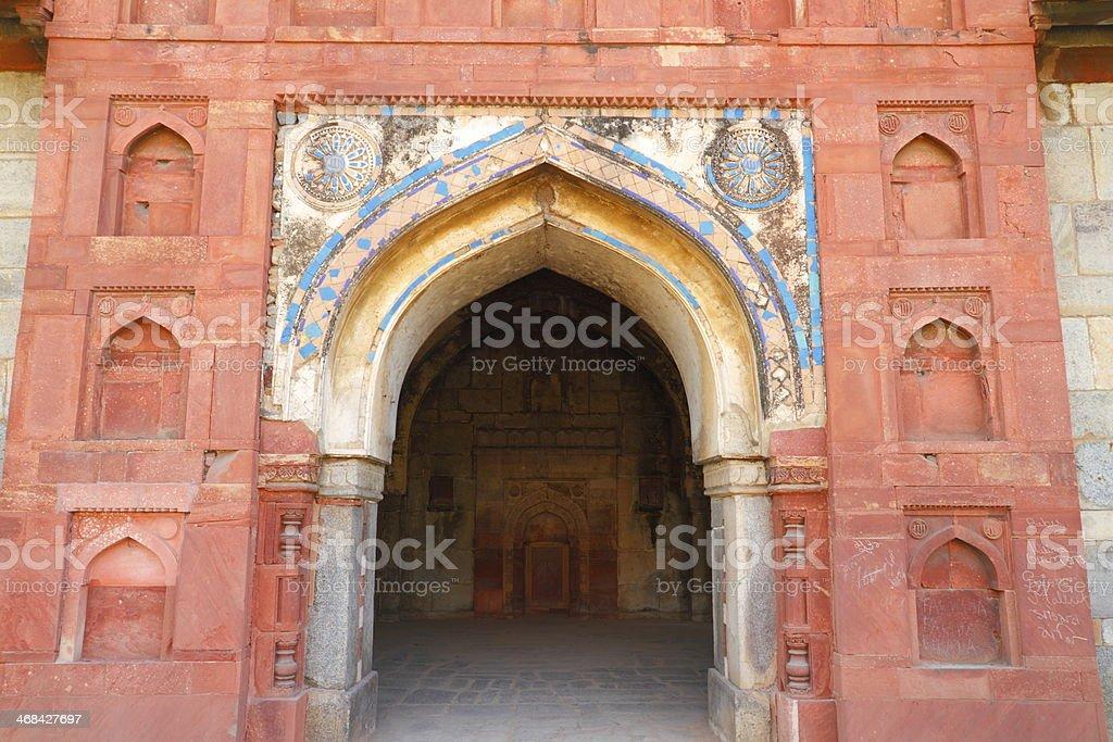 Isa Khan's tomb royalty-free stock photo