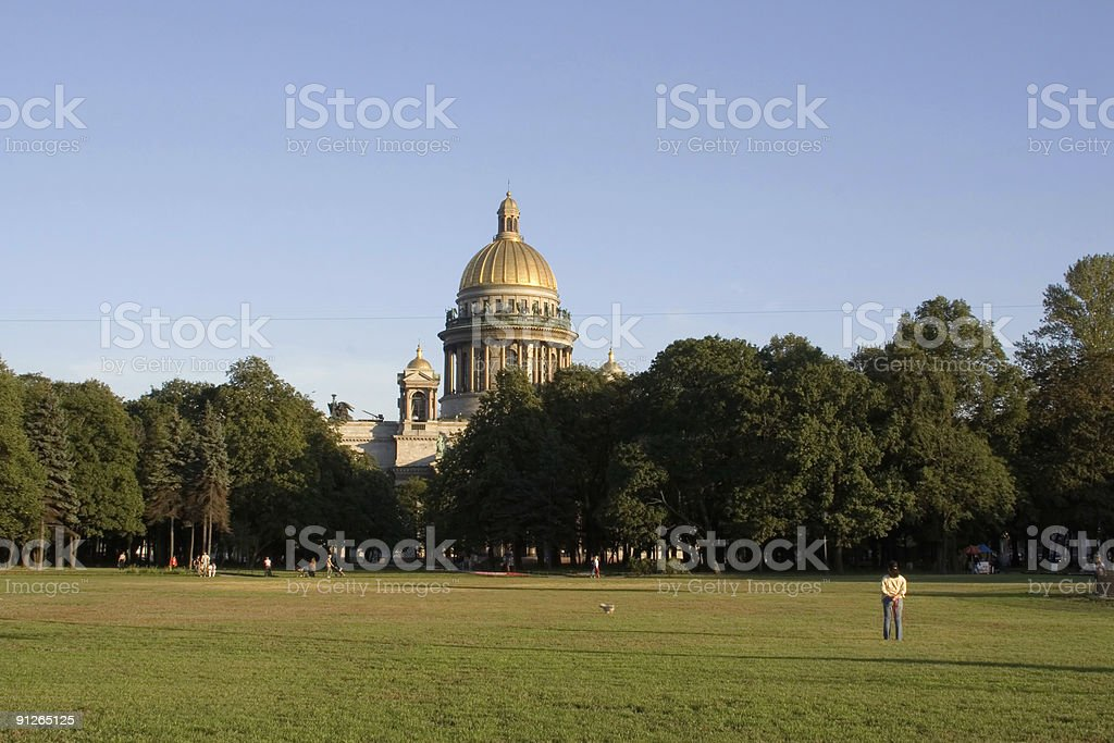 isaac cathedral saint petersburg russia royalty-free stock photo