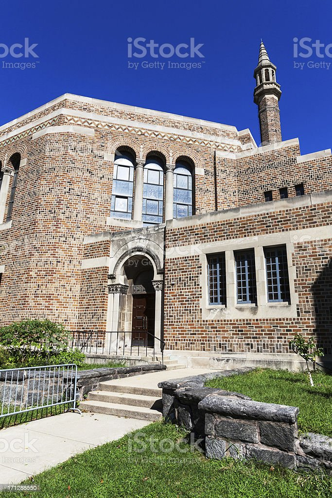 K.A.M. Isaiah Israel Temple, Kenwood, Chicago royalty-free stock photo
