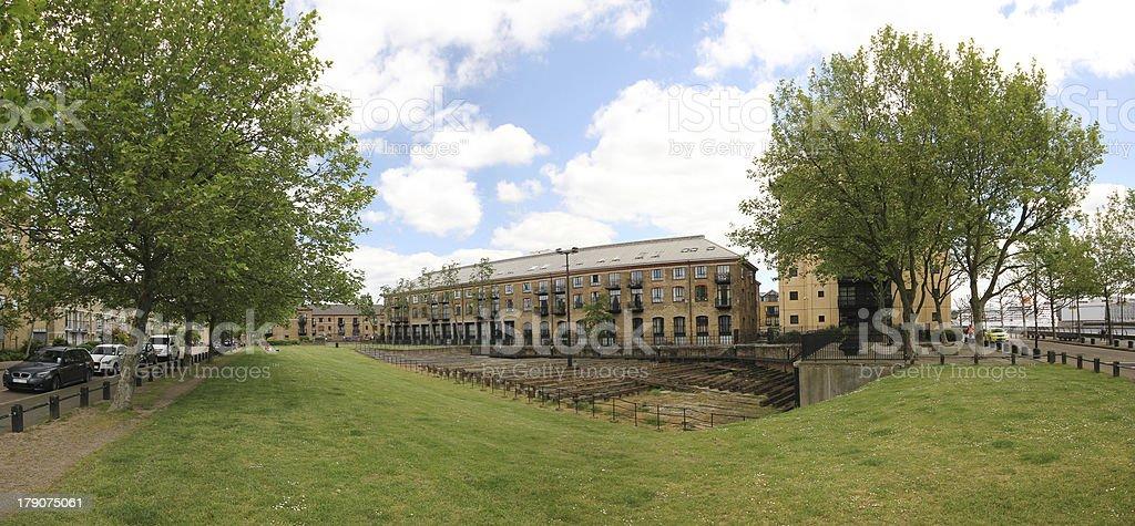Isambard Kingdom Brunel's SS Great Eastern slipway at Millwall, London royalty-free stock photo