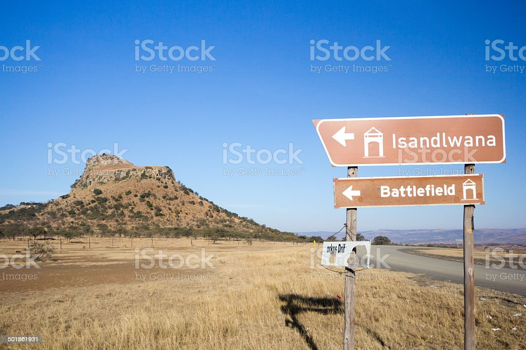 Isandlwana in KwaZulu-Natal, South Africa stock photo