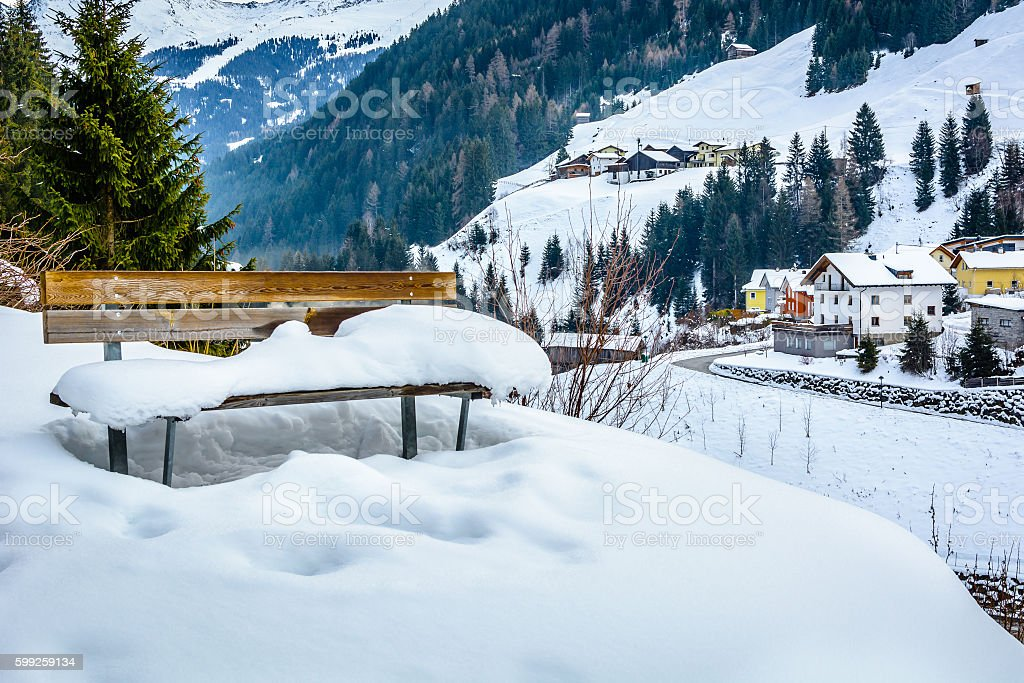 Ischgl landscape Austria. stock photo