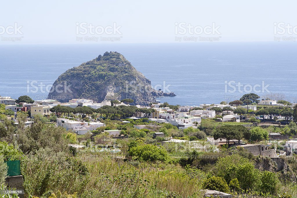 Ischia Island and view of Sant Angelo, Italy royalty-free stock photo