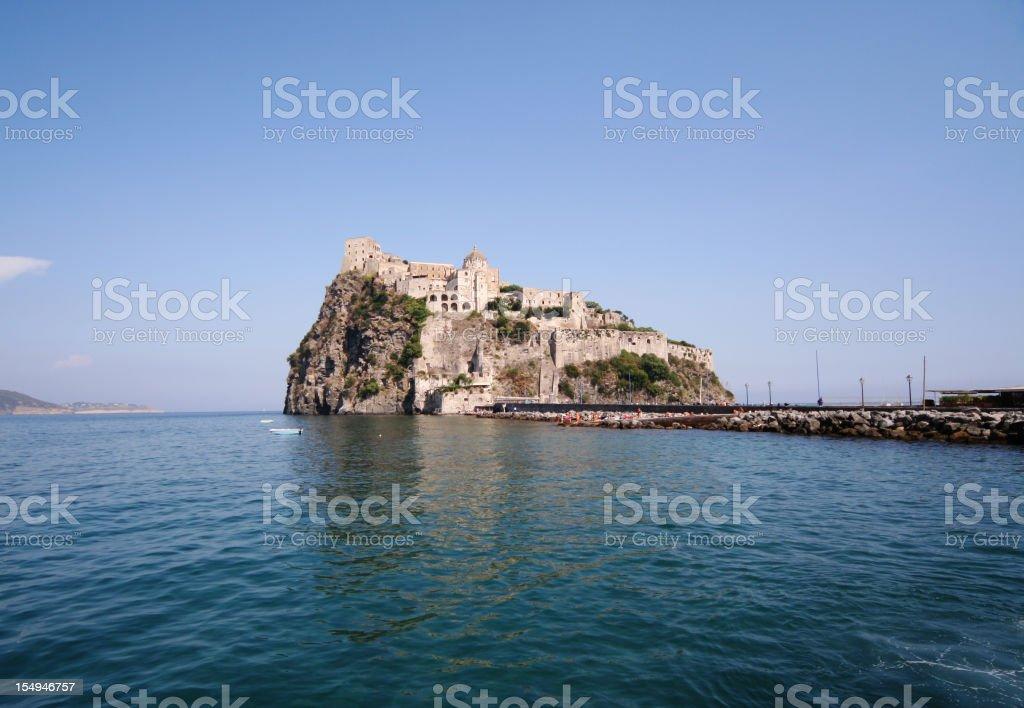 Ischia Island Castle royalty-free stock photo