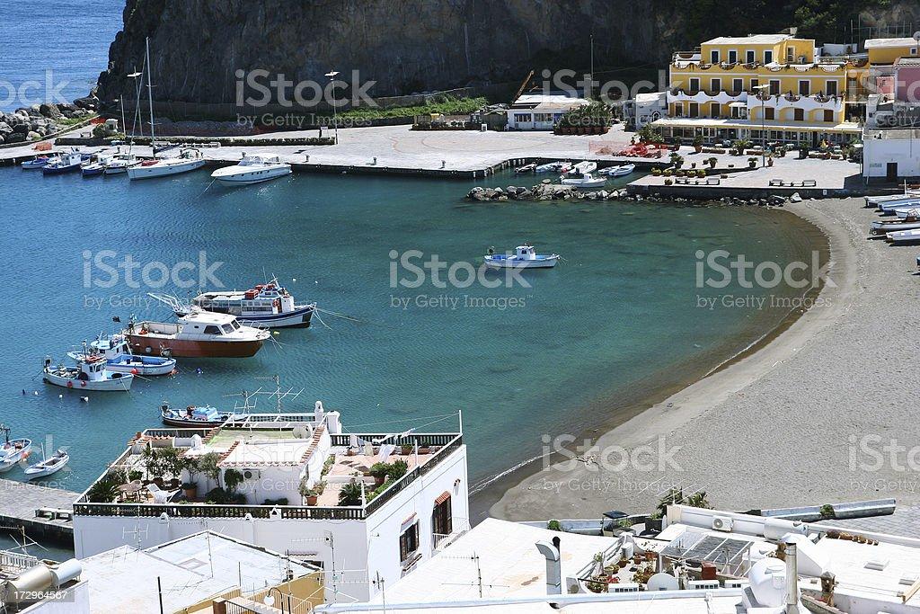 ischia island, sant'angelo stock photo