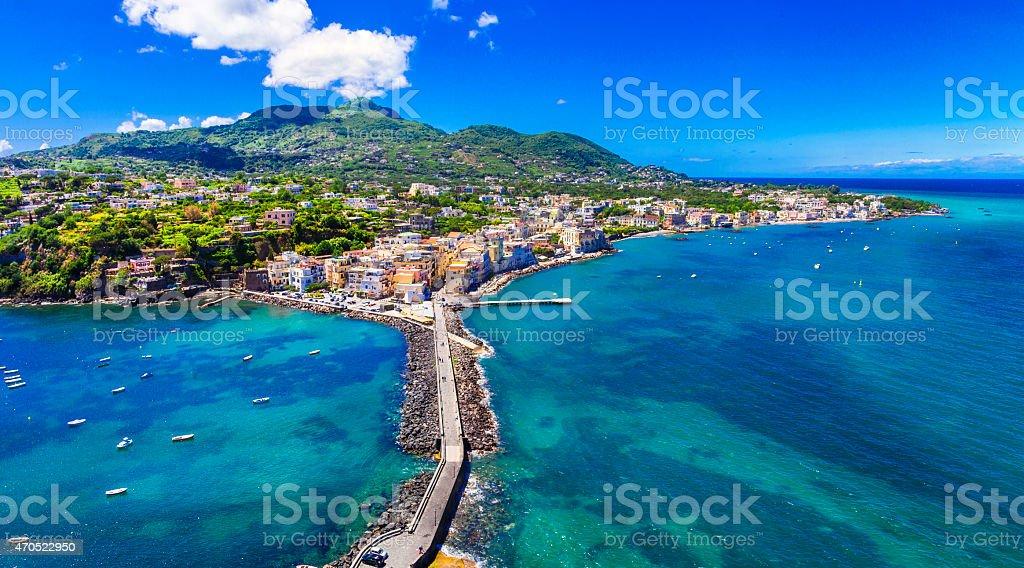 Ischia island,Italy. stock photo
