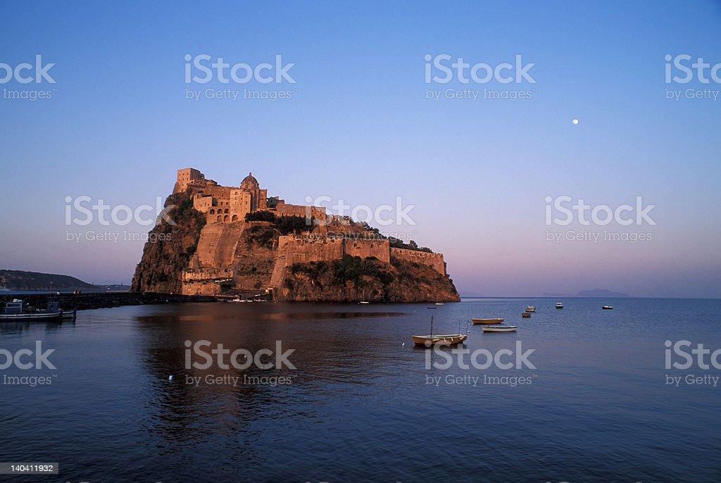 Ischia Ponte and Aragon Castle stock photo