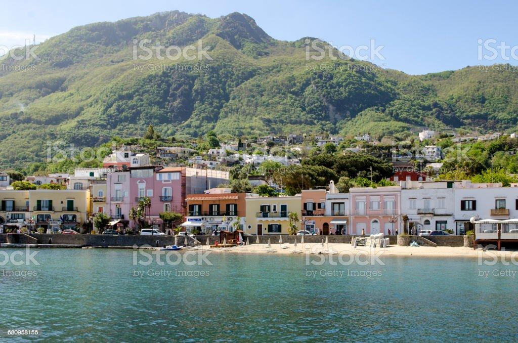 Ischia, village of Lacco Ameno, Italy royalty-free stock photo