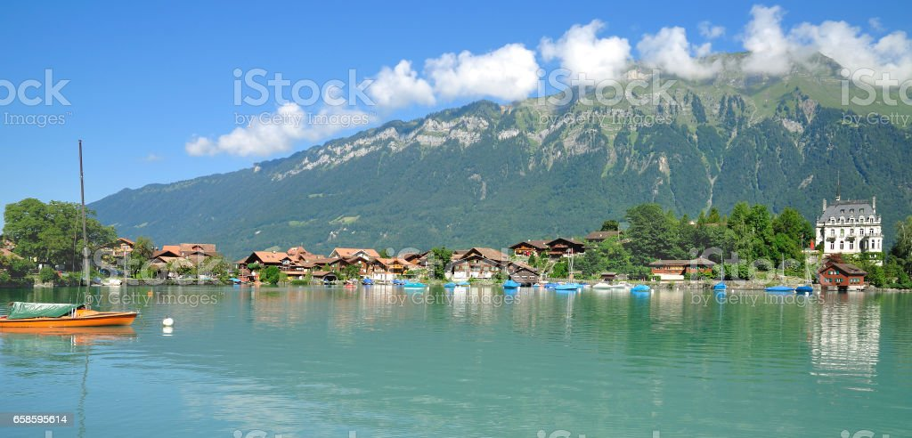 Iseltwald,Lake Brienz,Bernese Oberland,Switzerland stock photo