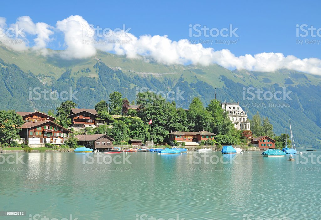Iseltwald,Brienzersee,Switzerland stock photo