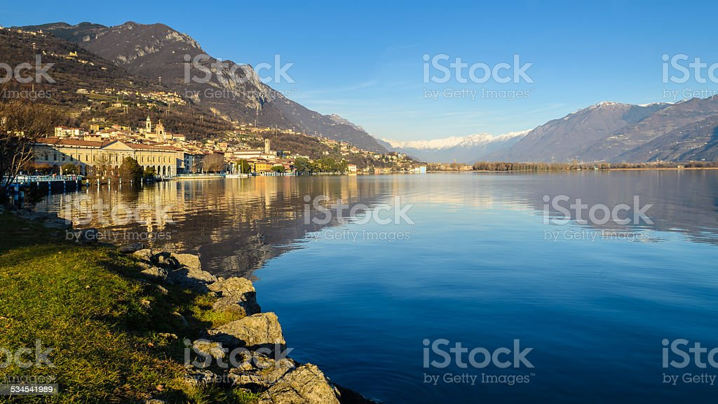 Iseo lake stock photo