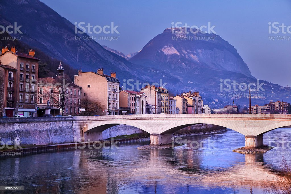 Isere River in Grenoble royalty-free stock photo