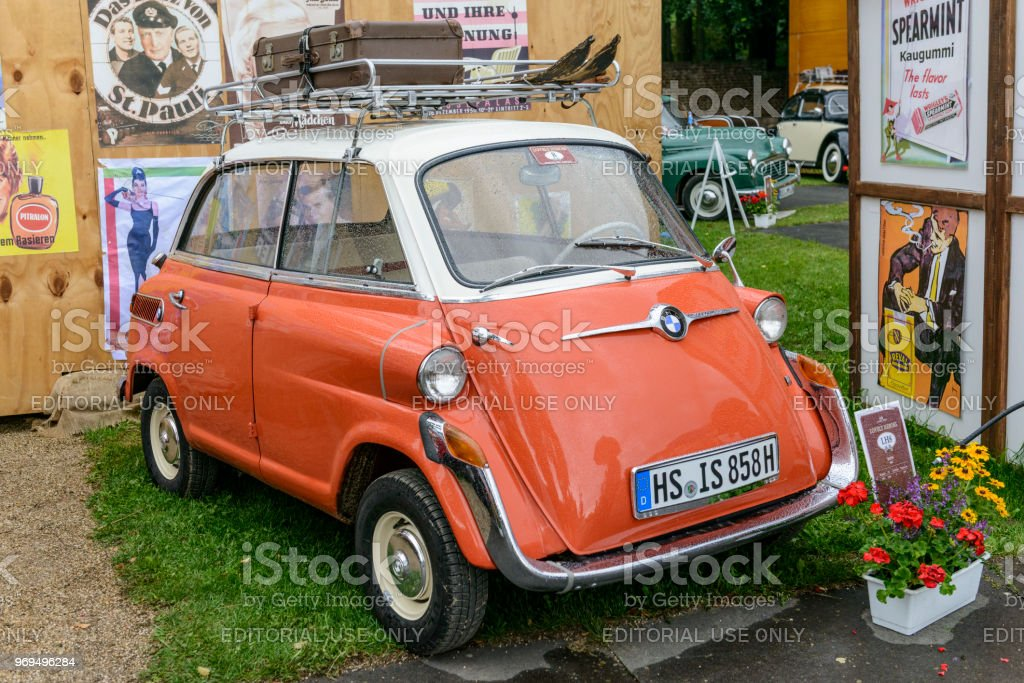 Bmw Isetta 600 Fourseater 1950s Microcar Or Bubble Car Stock