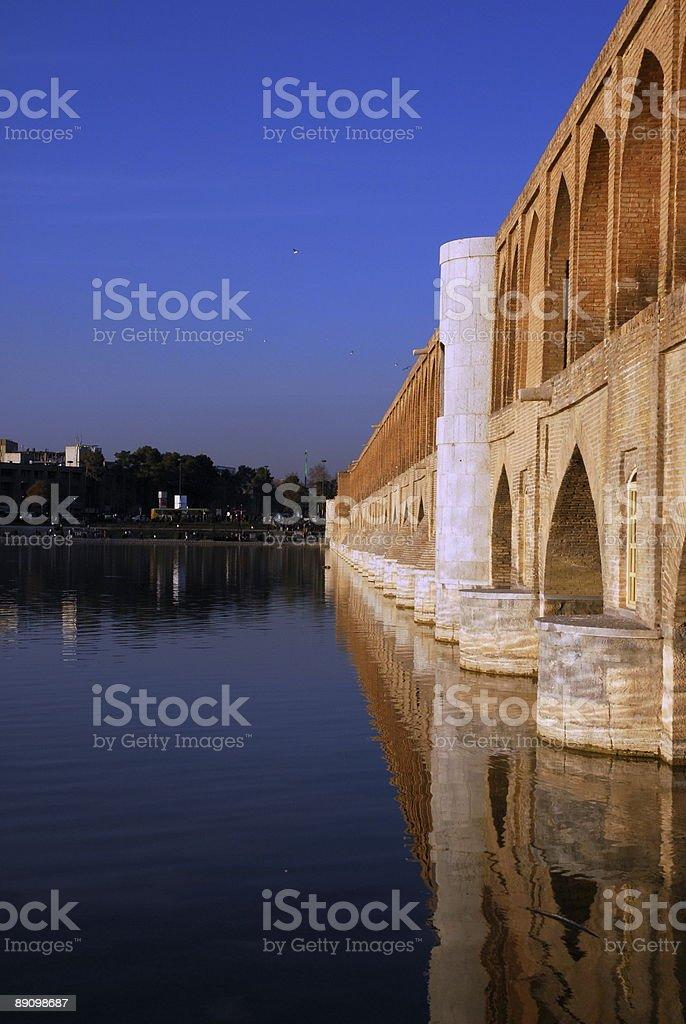 Isfahán bridge-Si-o-se Pol foto de stock libre de derechos