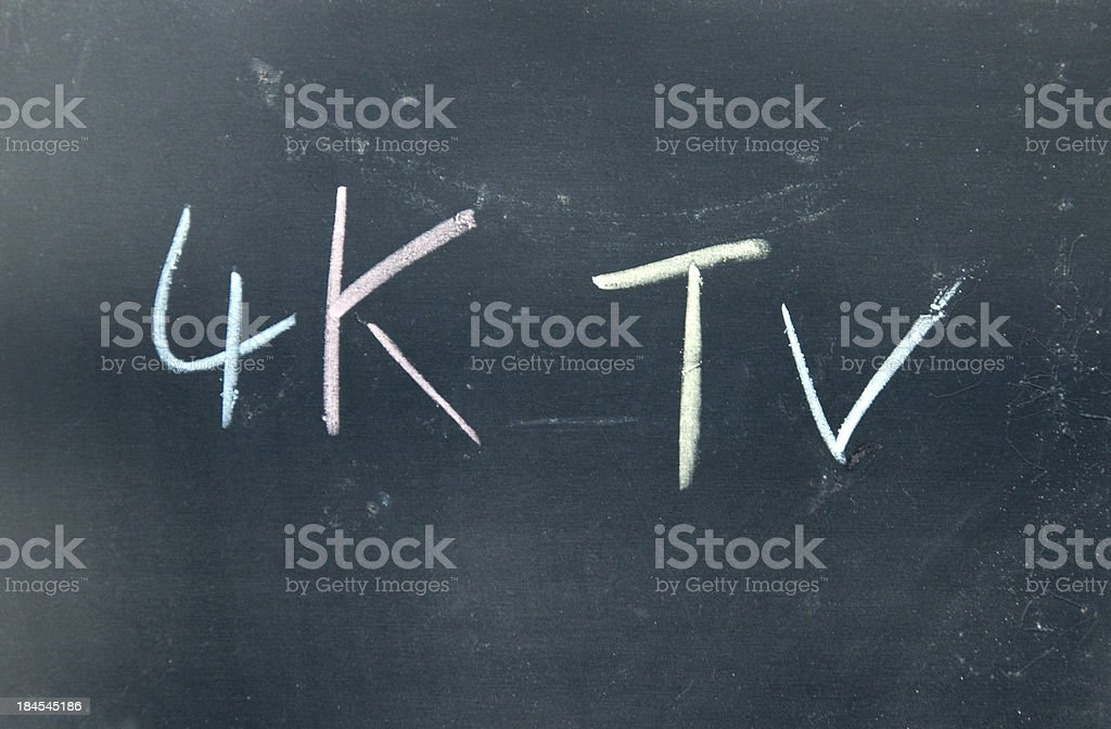 4K TV isgn royalty-free stock photo