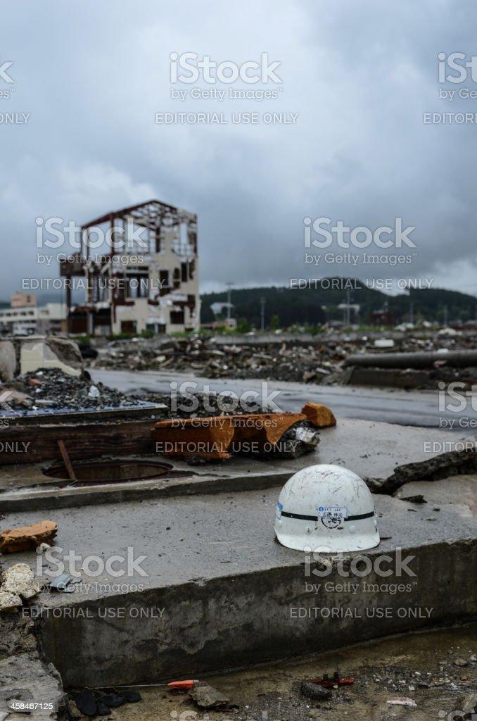 Ishinomaki 6 month after Tidal Wave royalty-free stock photo