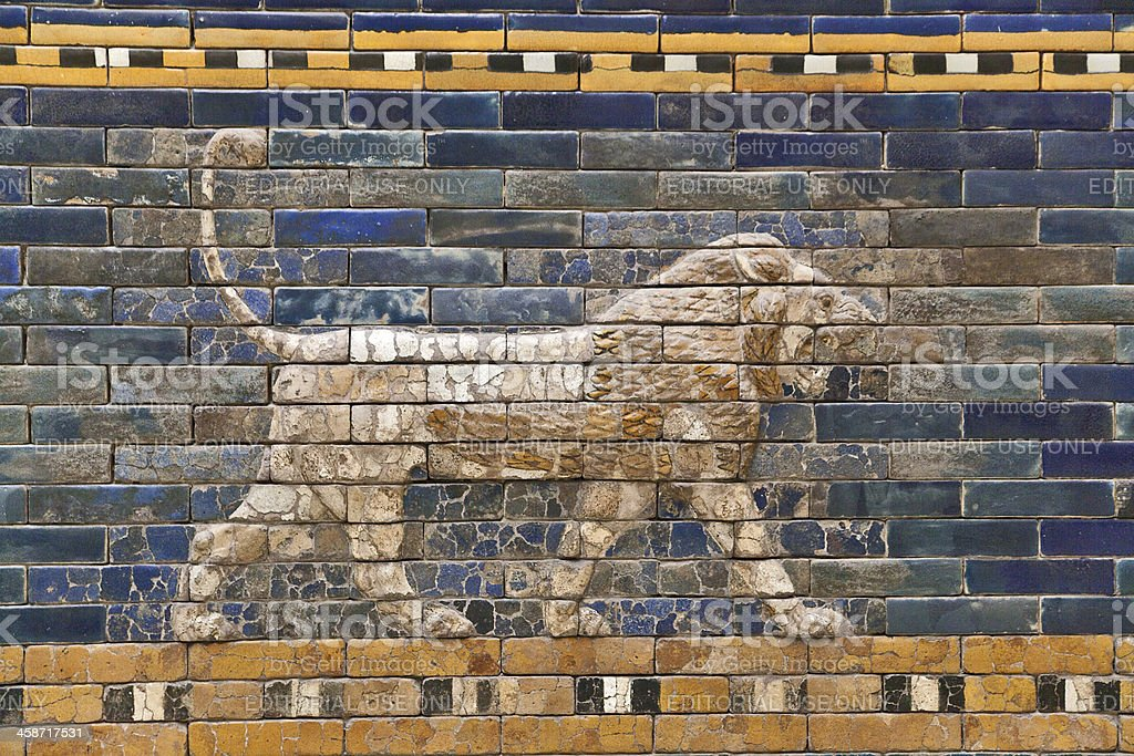Ishtar Gate and Processional Way royalty-free stock photo
