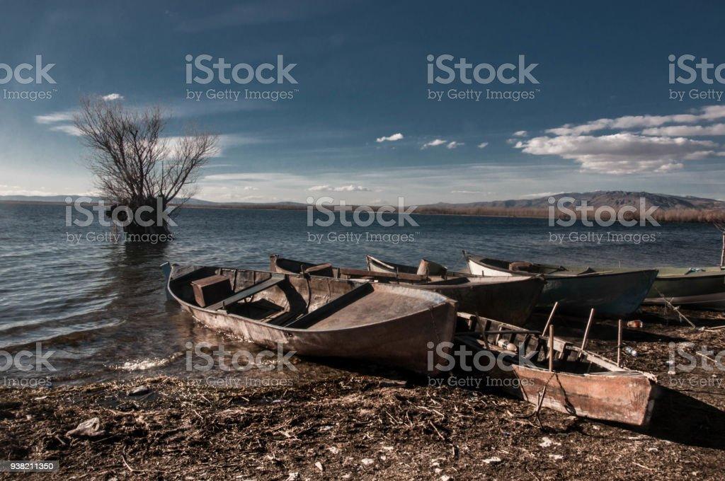 Isikli Lake Civril Denizli Turkey stock photo