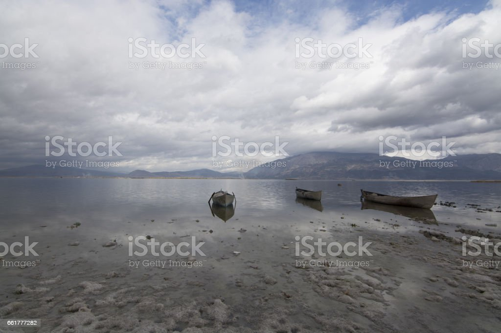 Isikli Lake Denizli, Turkey stock photo