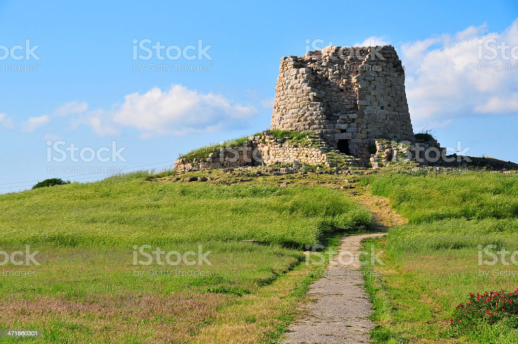 Isili, Cagliari province, Sardinia, Italy: Nuragic complex of Is Paras royalty-free stock photo
